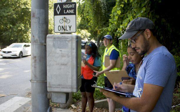Volunteers Conducting Walk Audit
