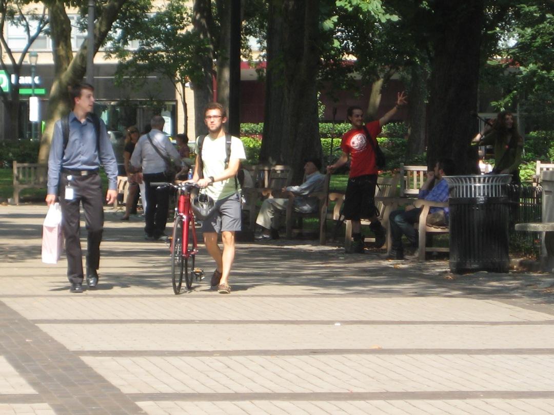 Walking in Rittenhouse Square